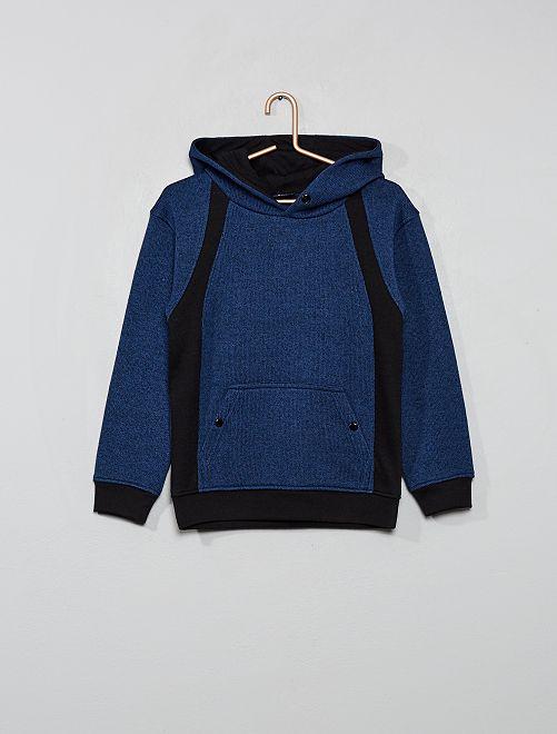 Sudadera de punto con capucha                                                     azul oscuro