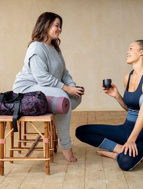 Sudadera de yoga de punto suave                                         GRIS