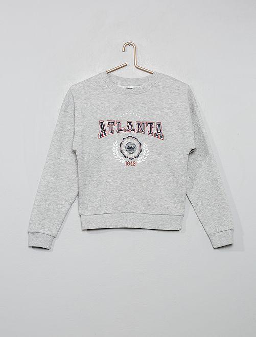 Sudadera estampada 'Atlanta'                                                                                                                 GRIS