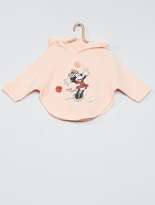 Sudadera estampada con capucha 'Minnie'                             ROSA
