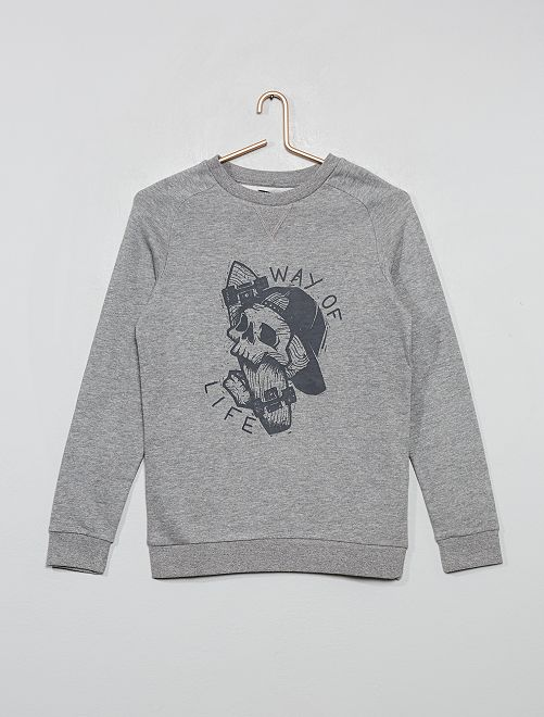 Sudadera estampada y colorida                                                                                         GRIS