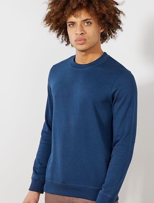 Sudadera ligera de felpa                                                                                                     azul marino Hombre