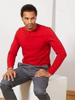 Hombre talla S-XXL - Sudadera ligera de felpa - Kiabi