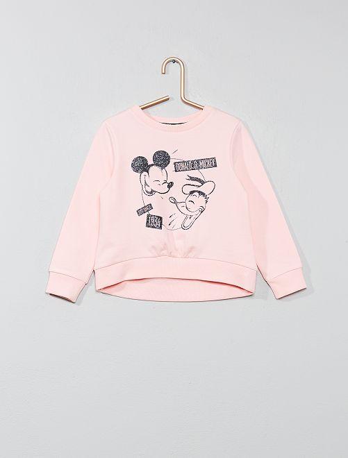Sudadera 'Mickey & Donald'                             rosa Chica