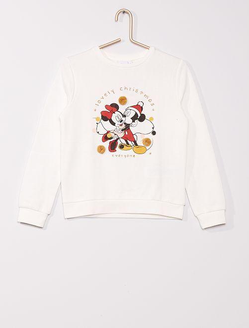 Sudadera navideña 'Minnie y Mickey' 'Disney'                             BLANCO