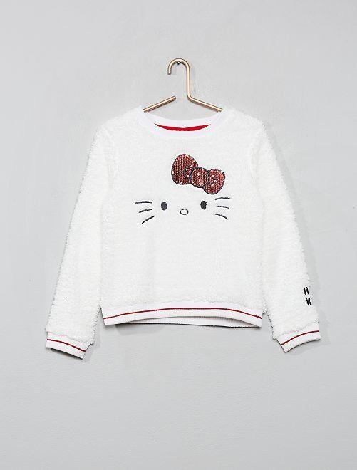 Sudadera polar efecto borreguito 'Hello Kitty'                             crudo
