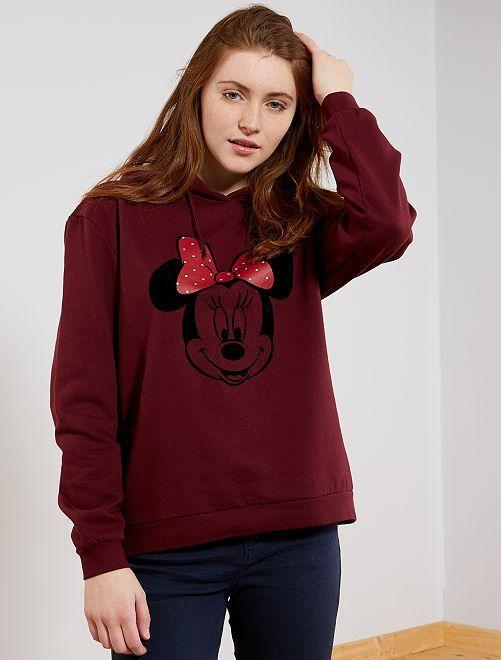 Sudadera 'Princesa Disney'                             PURPURA/ MINNIE Mujer talla 34 a 48