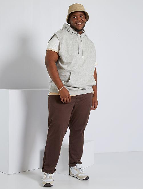 Sudadera sin mangas con capucha                              GRIS