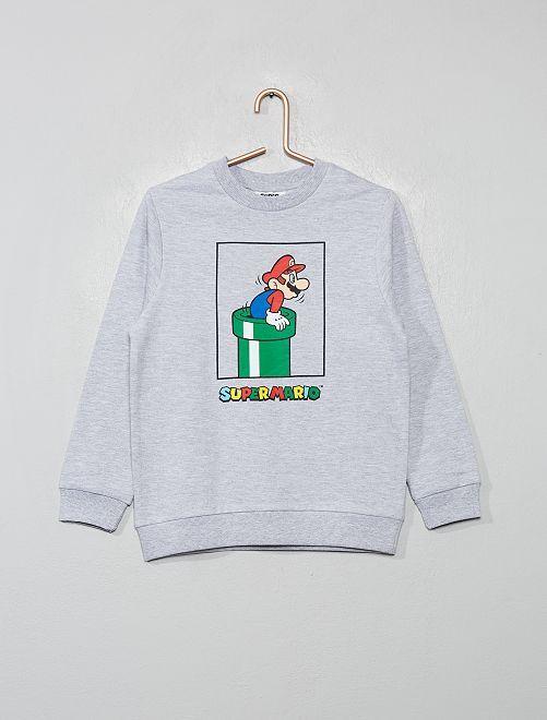 Sudadera 'Super Mario'                             gris chiné
