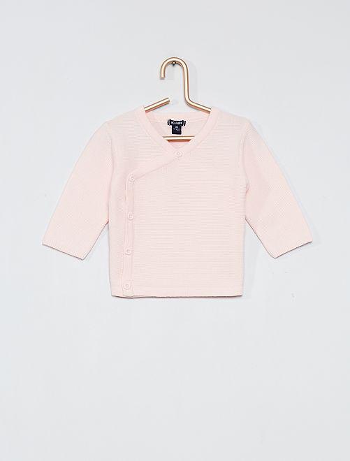 Sujetador de algodón 'eco-concepción'                                         rosa pálido