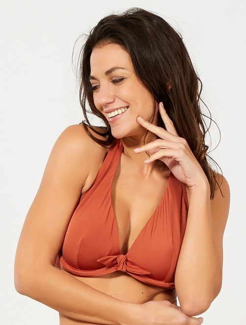Sujetador de bikini copas D y E                             NARANJA Mujer talla 34 a 48