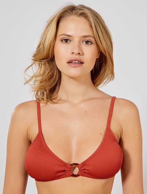 Sujetador de bikini de triángulo                                 NARANJA Mujer talla 34 a 48