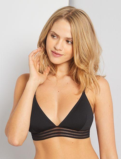 Sujetador de bikini de triángulo                                         negro