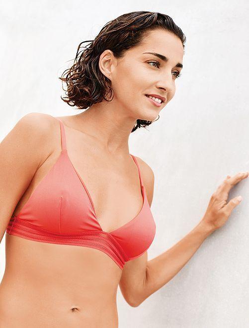 Sujetador de bikini de triángulo                             ROSA Mujer talla 34 a 48