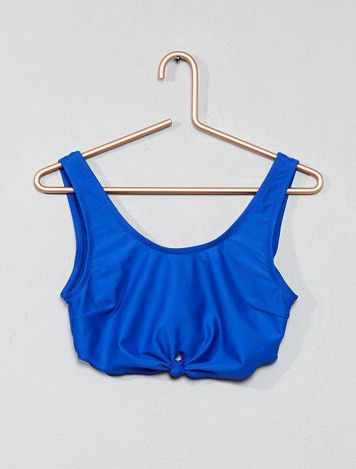 Sujetador de bikini tipo bandeau                                         azul