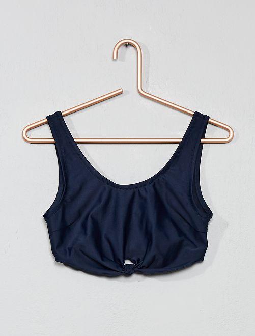 Sujetador de bikini tipo bandeau                                         azul Joven niña