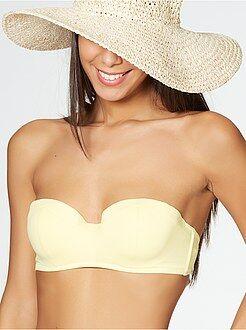 Mujer Sujetador de bikini tipo bandeau con copas