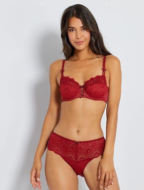 Sujetador Flower Elegance 'Playtex'                                                     rojo