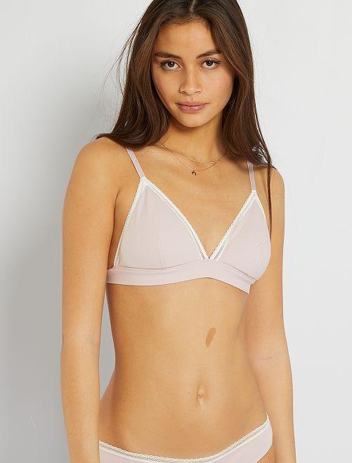 Sujetador triángulo algodón almohadillas extraíbles                                                                                                                 violeta oscuro