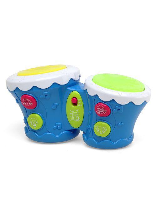 Tambor musical con efectos luminosos                             azul Bebé niña