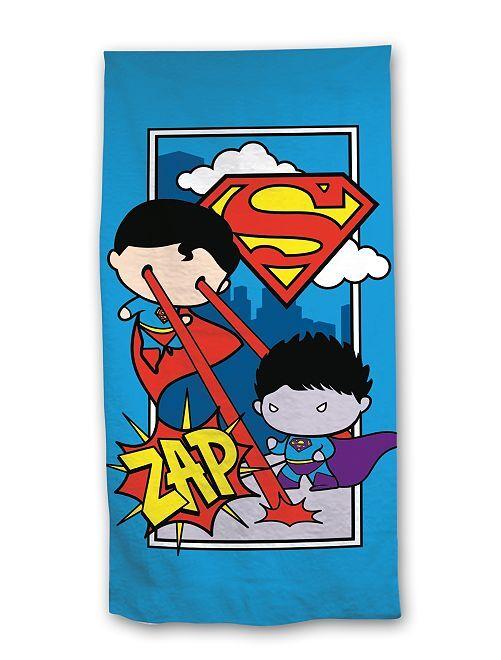 Toalla de playa 'Mini Superman'                             azul