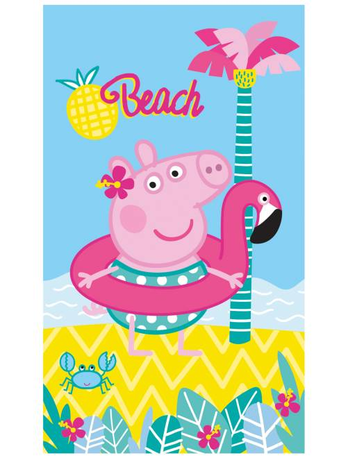 Toalla de playa 'Peppa Pig'                             AZUL Chica