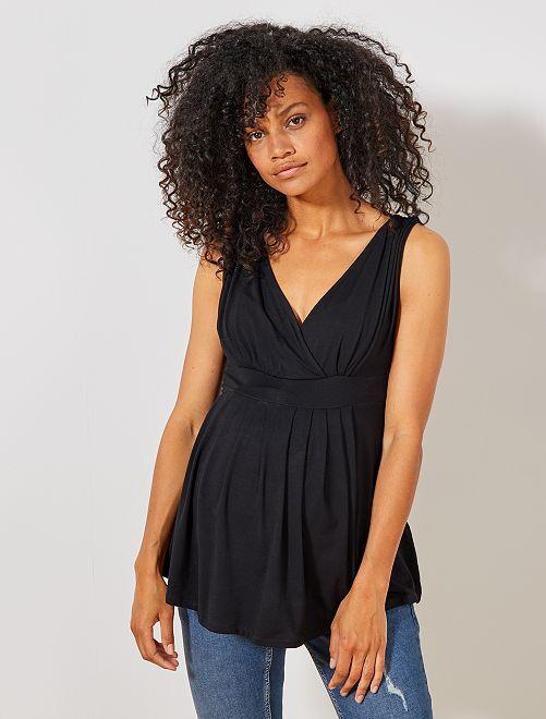 Top cruzado premamá                                                     negro Mujer talla 34 a 48