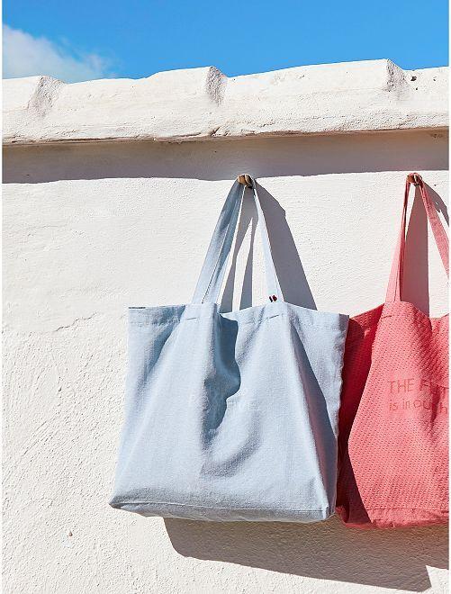 Tote bag 100 % francesa                                         azul claro