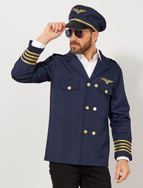 Traje de piloto de avión                             azul marino Hombre