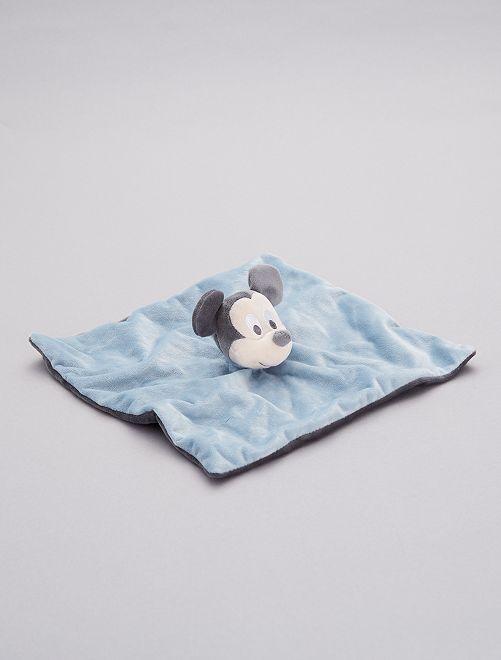 Trapito de terciopelo 'Mickey Mouse'                             azul gris pala Bebé niño
