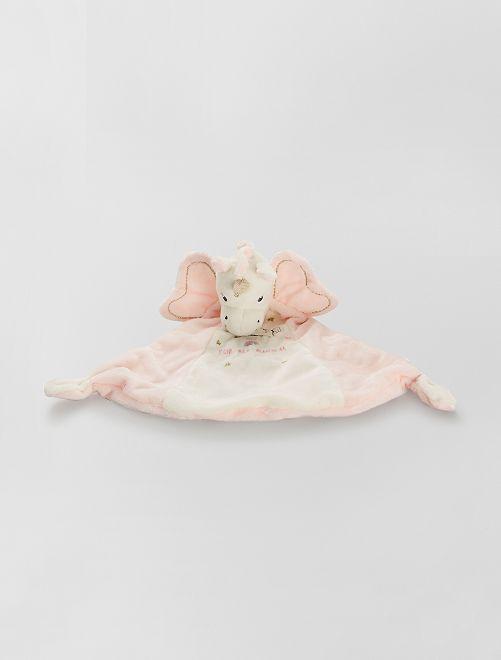 Trapito de terciopelo 'unicornio'                                         ROSA