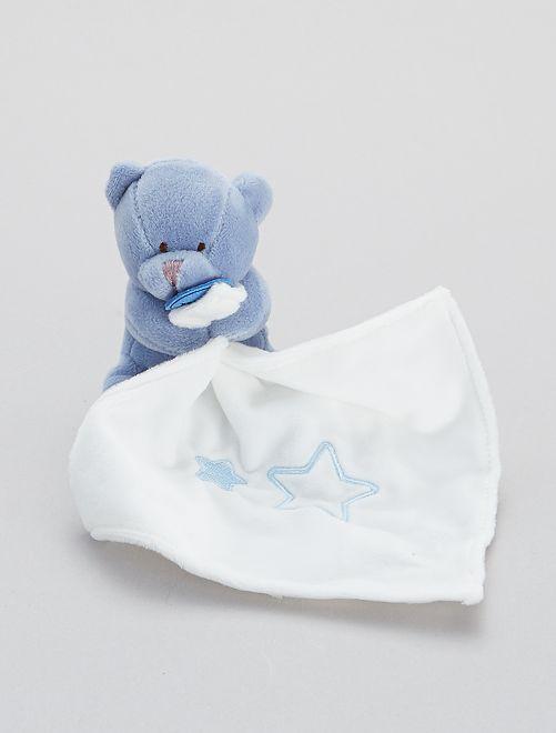 Trapito pañuelo con osito 'Babynat'                                                                 azul