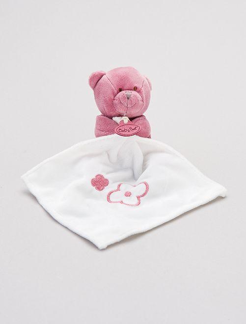 Trapito pañuelo con osito 'Babynat'                                                     fucsia