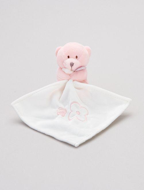 Trapito pañuelo con osito 'Babynat'                     rosa