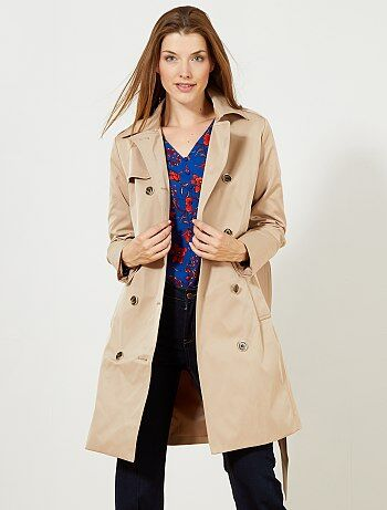 Mujer - Trench liso impermeable - Kiabi