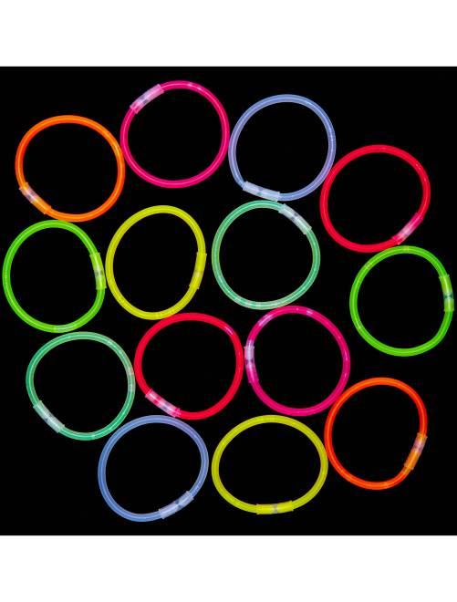 Tubo de 15 pulseras luminosas                             multicolor