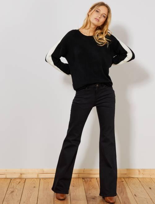 Vaquero bootcut de talle alto                                         NEGRO Mujer talla 34 a 48