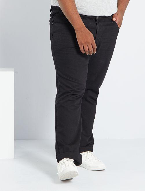 Vaquero comfort 5 bolsillos                                                                 negro Tallas grandes hombre