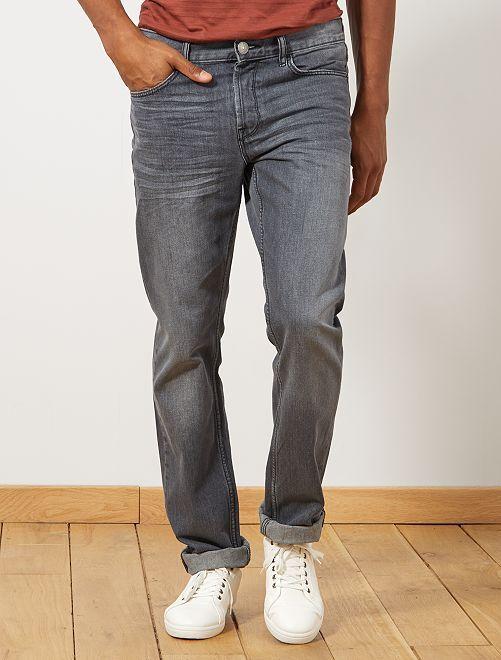 Vaquero regular con 5 bolsillos largo US 34                                                                 gris Hombre
