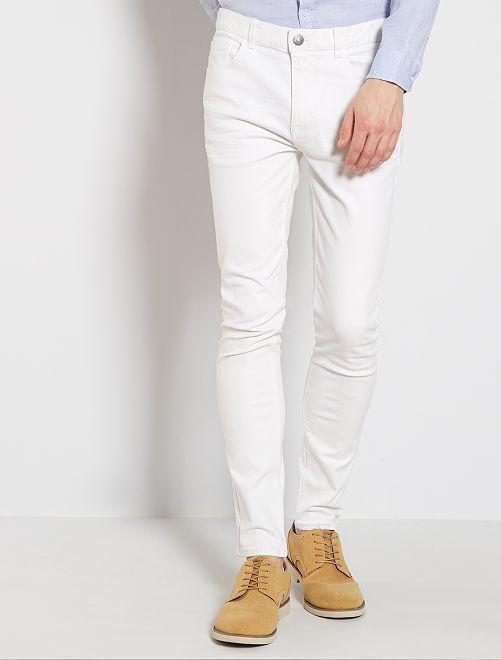 Vaquero skinny de algodón elástico                                                                             blanco