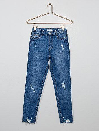 0a724b4be Rebajas ropa juvenil online | vaqueros skinny Joven niña | Kiabi
