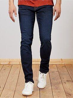 Hombre de mas de 1'90m - Vaquero slim de algodón elástico L36 +1,90 m - Kiabi