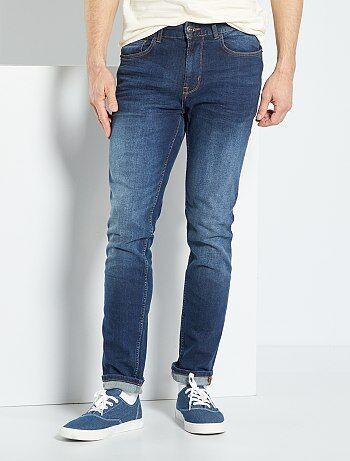 Hombre talla S-XXL - Vaquero slim elástico - Kiabi