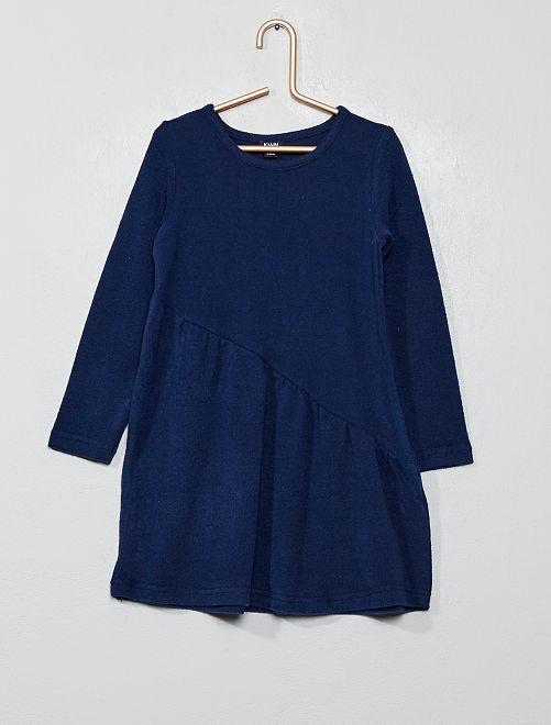 Vestido asimétrico de punto                                                                 azul