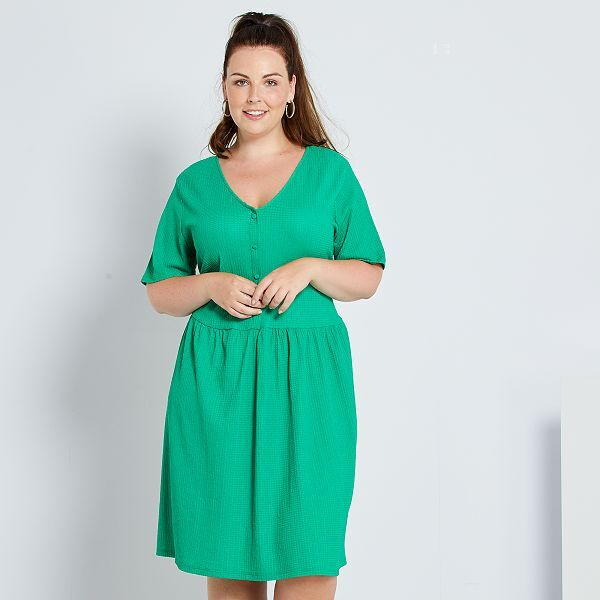 Vestido Baby Doll Tallas Grandes Mujer Verde Kiabi 13 00
