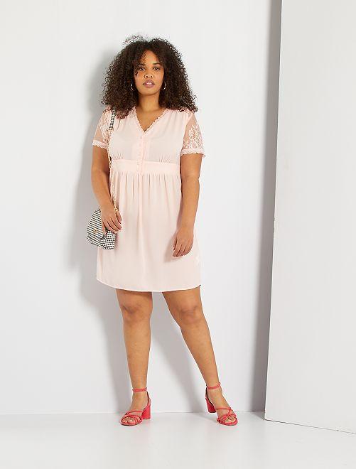 Vestido babydoll                             rosa