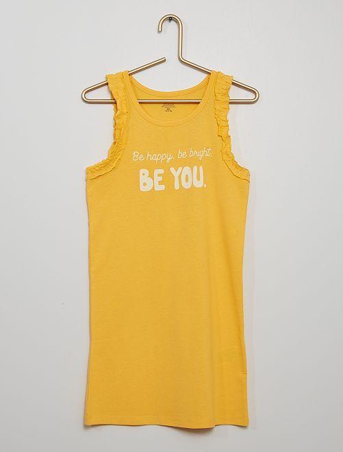 Vestido 'Be happy, be bright, be you'                                                     amarillo