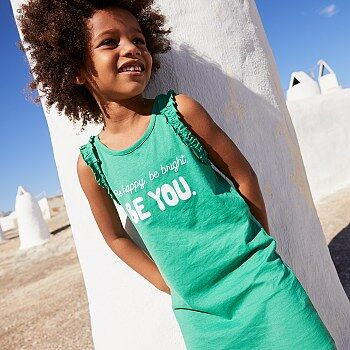Vestido 'Be happy, be bright, be you' - Kiabi