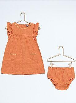Vestidos, faldas - Vestido + braguita estilo gasa de algodón