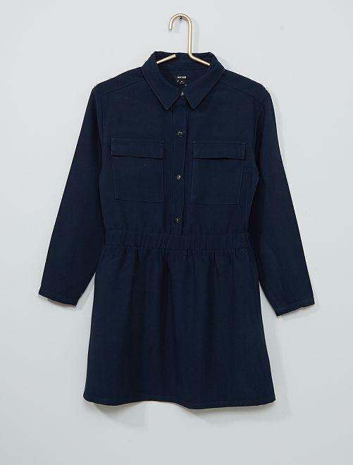 Vestido camisero                                                                             azul